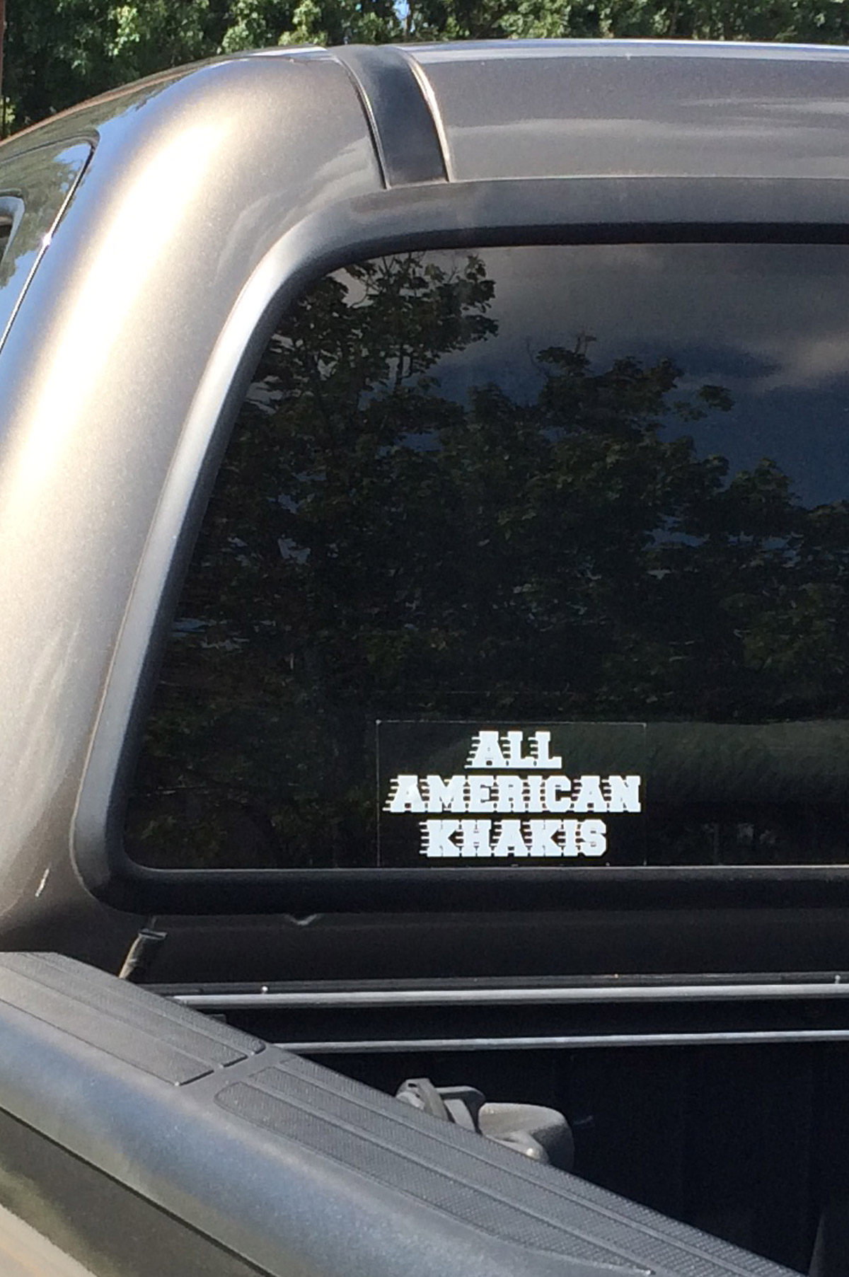 All American Khakis Window Decal